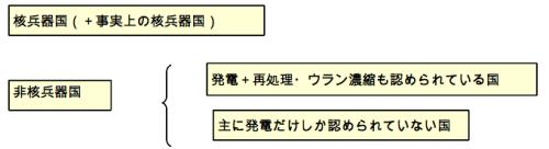 図3 原子力/核をめぐる国家間の差別